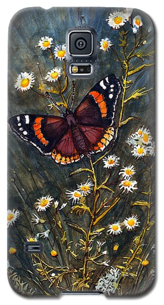 Red Admiral And Wild Aster Galaxy S5 Case
