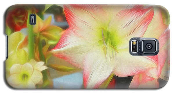 Red And White Amaryllis Galaxy S5 Case