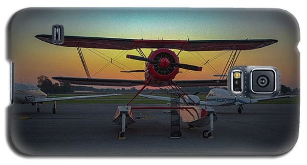 Red Biplane At Dawn Galaxy S5 Case