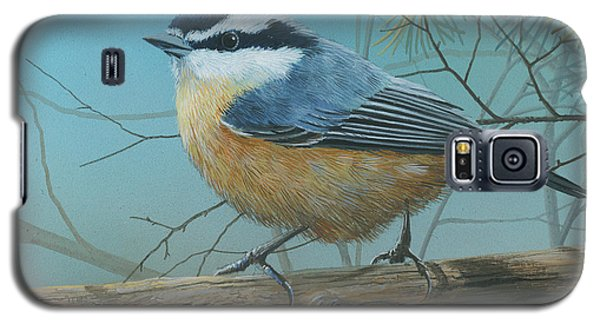 Red Brested Nuthatch Galaxy S5 Case