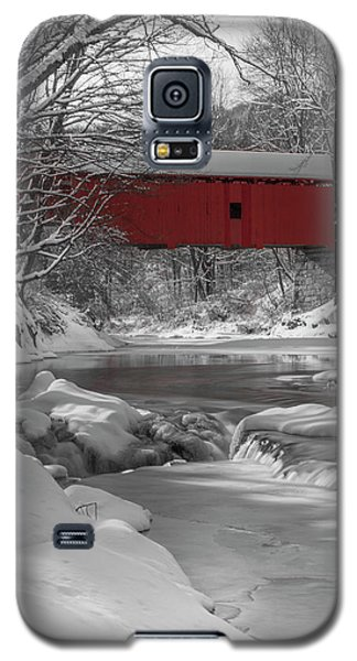 Red Covered Bridge Galaxy S5 Case