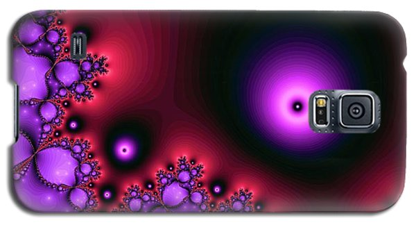 Red Glowing Bliss Abstract Galaxy S5 Case