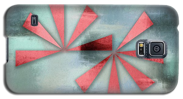 Red Triangles On Blue Grey Backdrop Galaxy S5 Case