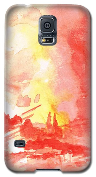 Red Village Abstract 1 Galaxy S5 Case