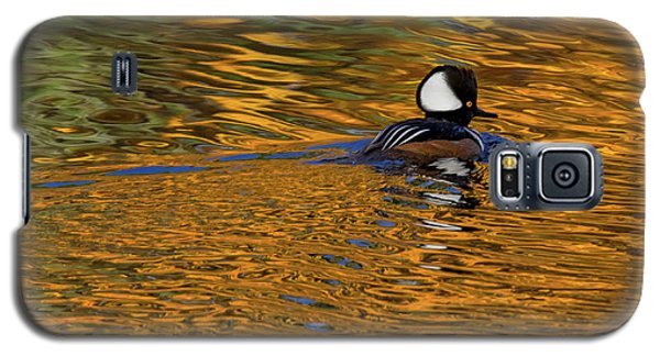 Reflecting With Hooded Merganser Galaxy S5 Case