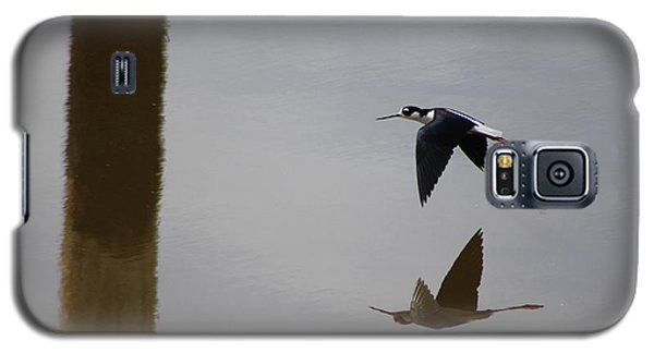 Reflection Of The Salton Sea Black Neck Stilt Flying Galaxy S5 Case