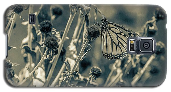Resting Butterfly Bw Galaxy S5 Case