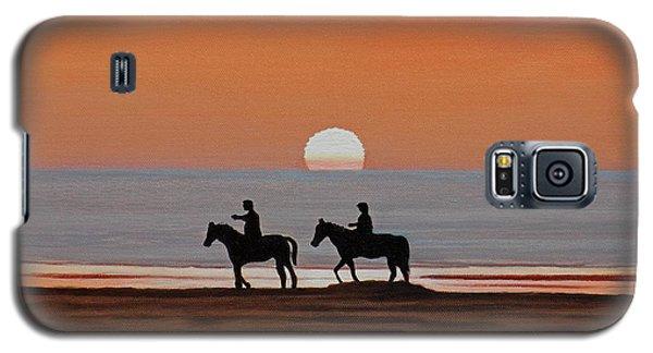 Riding Sunset Beach Galaxy S5 Case