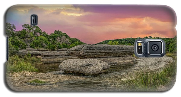 River Erosion At Sunset Galaxy S5 Case