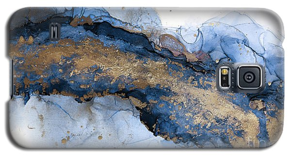 River Of Blue And Gold Abstract Painting Galaxy S5 Case