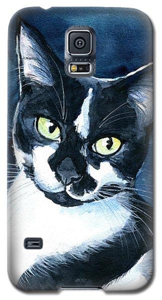 Rollie Tuxedo Cat Painting Galaxy S5 Case