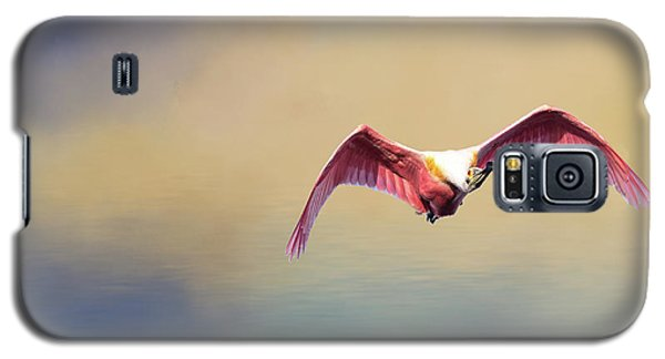 Roseate Spoonbill At Sunrise Galaxy S5 Case