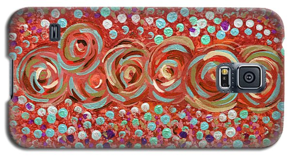 Roses Of Coral And Turquoise Galaxy S5 Case