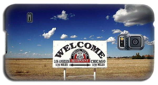 Route 66 - Midpoint Sign 2010 Bw Galaxy S5 Case