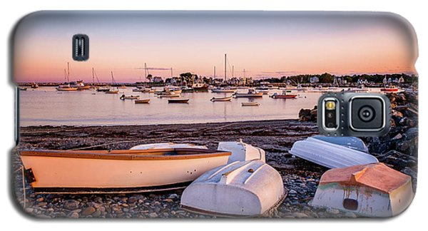 Rowboats At Rye Harbor, Sunset Galaxy S5 Case