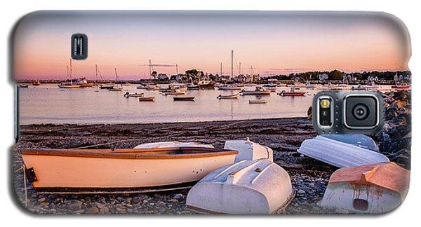 Rowboats At Rye Harbor, Sunset Galaxy S5 Case