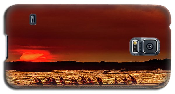 Rowing In The Sunset Galaxy S5 Case