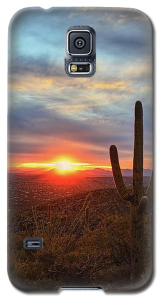 Saguaro Cactus And Tucson At Sunset Galaxy S5 Case