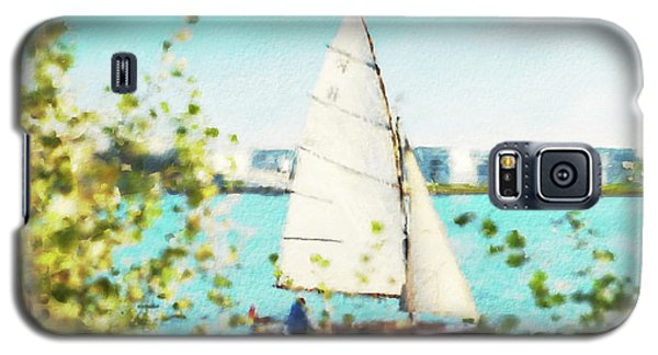 Sailboat On The River Watercolor Galaxy S5 Case