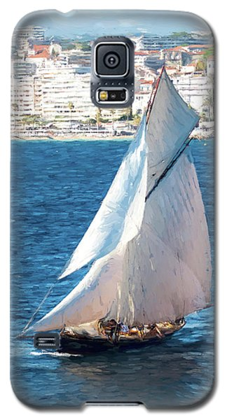 Sailing At Cannes Portrait Two Galaxy S5 Case