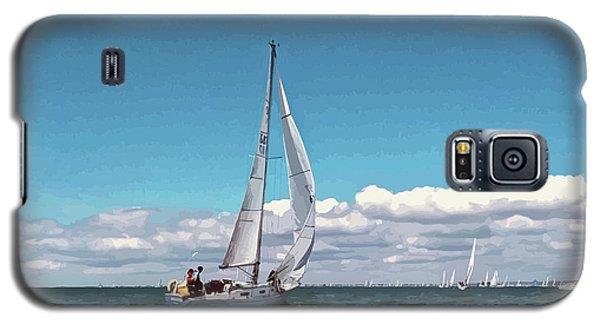 Sailing Regatta On A Brisk Summer's Day Galaxy S5 Case