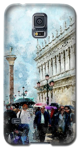 Saint Theodore Sculpture At Saint Mark Square Galaxy S5 Case