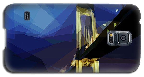 Galaxy S5 Case featuring the digital art San Francisco Bridge by ISAW Company