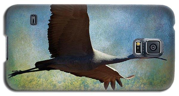 Sandhill Crane Art Galaxy S5 Case
