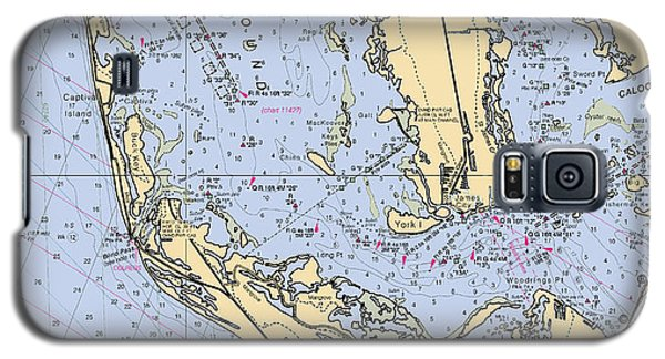 Sanibel And Captiva Islands Nautical Chart Galaxy S5 Case