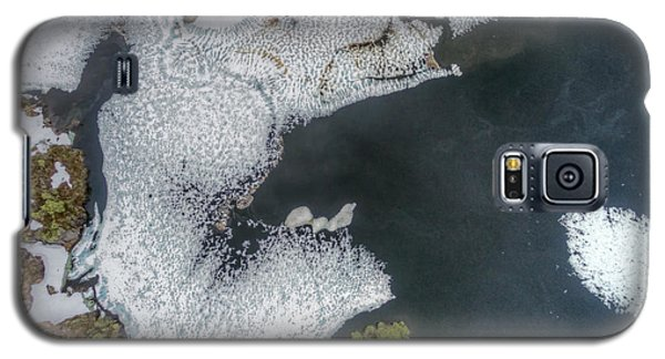 Icy Galaxy S5 Case - Scenic Aerial View Of Partly Frozen by Harvepino
