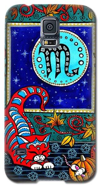 Scorpio Cat Zodiac Galaxy S5 Case