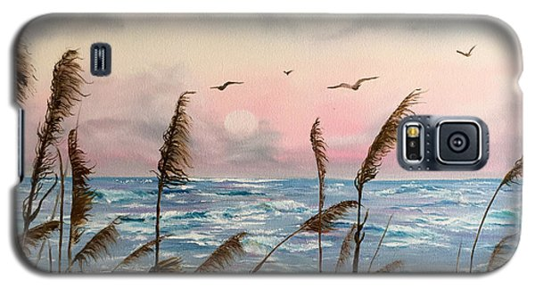 Sea Oats And Seagulls  Galaxy S5 Case