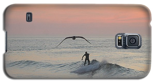 Seagull And A Surfer Galaxy S5 Case