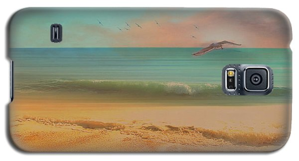 Seagulls Gather At Dusk Galaxy S5 Case