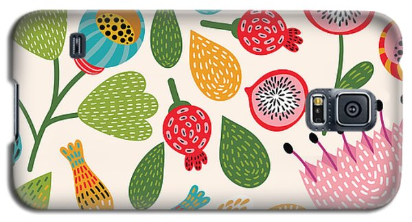 Branch Galaxy S5 Case - Seamless Floral Pattern by Tets