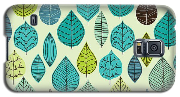 Branch Galaxy S5 Case - Seamless Pattern On Leaves Theme by Markovka