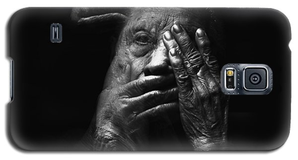 Galaxy S5 Case featuring the digital art See No Evil Hear No Evil Speak No Evil by ISAW Company