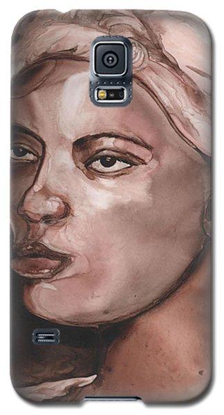 Sepia Woman Galaxy S5 Case