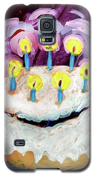 Seven Candle Birthday Cake Galaxy S5 Case