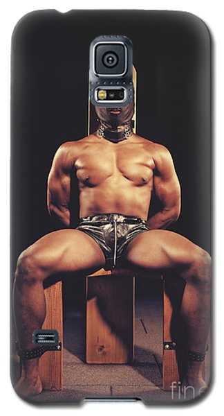 Sexy Man Tiedup On A Bdsm Chair Galaxy S5 Case