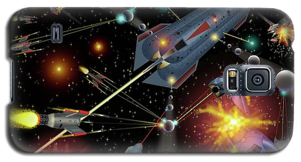 Sferogyls Space Battle Group Galaxy S5 Case