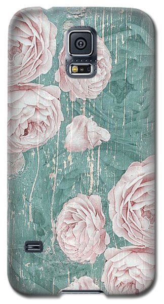 Shabby Chic Roses Distressed Galaxy S5 Case