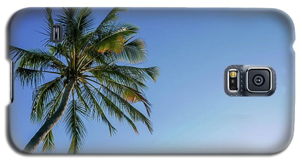 Shades Of Blue And A Palm Tree Galaxy S5 Case