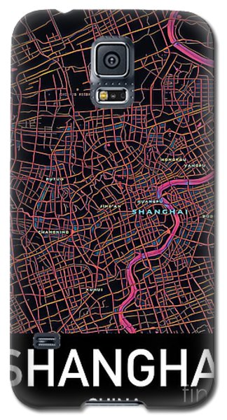 Shanghai City Map Galaxy S5 Case