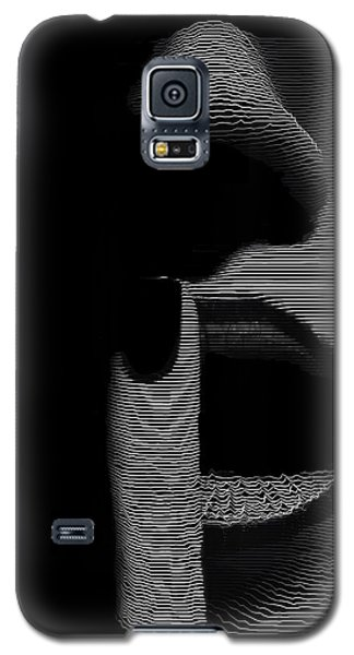 Galaxy S5 Case featuring the digital art Shhh by ISAW Company