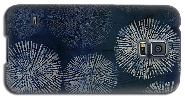 Shibori Sea Urchin Burst Pattern Dark Denim Galaxy S5 Case