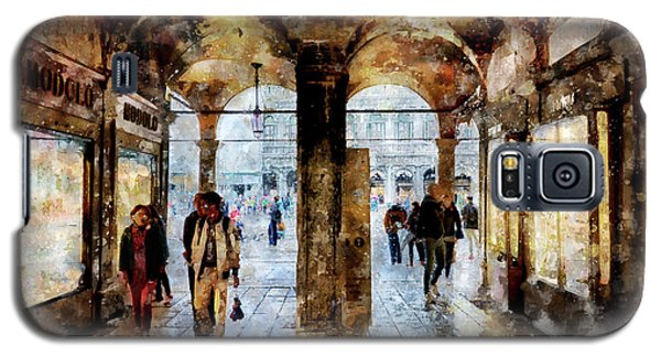 Shopping Area Of Saint Mark Square In Venice, Italy - Watercolor Effect Galaxy S5 Case