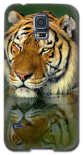 Siberian Tiger Reflection Wildlife Rescue Galaxy S5 Case