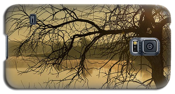 Silhouette Of A Tree By The River At Sunrise Galaxy S5 Case