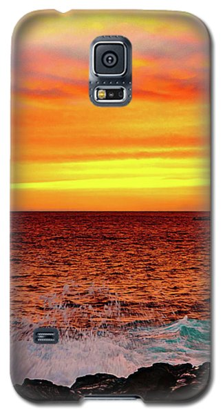 Simple Warm Splash Galaxy S5 Case